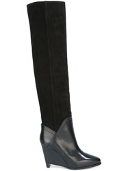 Maison Martin Margiela Wedge Knee High Boots Black
