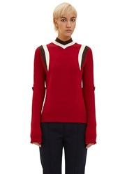 Marni Sports Knit Sweater Red