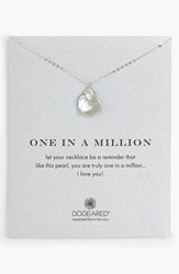 Women's Dogeared 'One In A Million' Keshi Pearl Necklace Pearl Sterling Silver