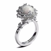 Kasun Ivory Pearl Ring Silver