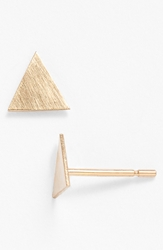 Melissa Joy Manning Triangle Stud Earrings Yellow Gold