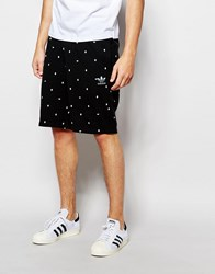Adidas Original Shorts In Trefoil Polka Dot Ao0551 Black