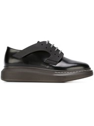 Alexander Mcqueen Extended Sole Derby Shoes Black
