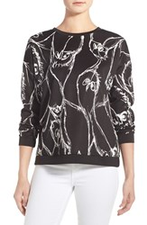 Women's Kensie Sketched Bird Print Sweatshirt