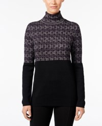 Styleandco. Style Co. Jacquard Turtleneck Sweater Only At Macy's Dark Grape Combo
