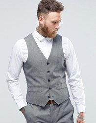 Harry Brown Puppy Tooth Slim Fit Waistcoat Grey