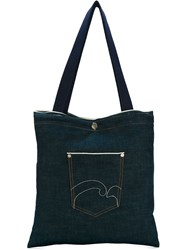 Societe Anonyme Selvedge Denim Logo Tote Blue