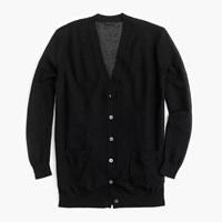 J.Crew Collection Cardigan Sweater In Gauzy Cotton Black