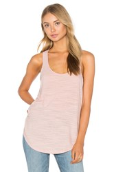 Heather Cotton And Gauze Panel Tank Blush