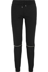 Mcq By Alexander Mcqueen Convertible Cotton Blend And Silk Crepe Track Pants Black