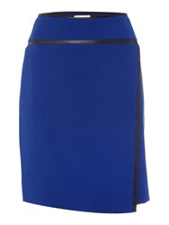 Tahari By Arthur S. Levine Wrap Skirt With Pleather Details Multi Coloured