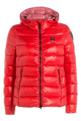 Blauer Quilted Down Jacket With Hood Red