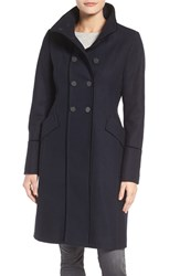 Tahari Women's Alice Wool Blend Officer's Coat Galaxy