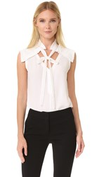 Yigal Azrouel Center Front Tie Top White
