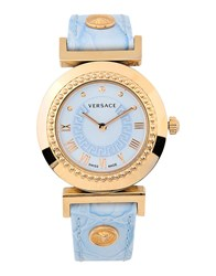 Versace Timepieces Wrist Watches Women Sky Blue
