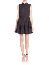 Zac Posen Marie Sleeveless Shirtdress Black
