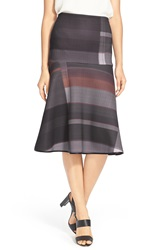 Clover Canyon 'Midnight Plaid' A Line Midi Skirt Multi