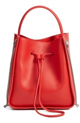 3.1 Phillip Lim 'Small Soleil' Leather Bucket Bag Red Cherry