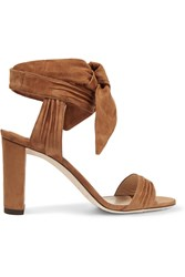 Jimmy Choo Kora Suede Sandals Tan