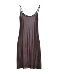 Spina Short Dresses Dark Brown