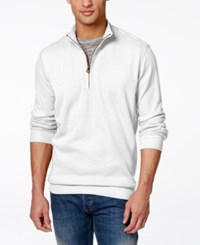 Weatherproof Quarter Zip Pullover Sweater White