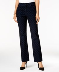 Charter Club Petite Lexington Flocked Straight Leg Jeans Only At Macy's Rinse Combo