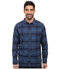 The North Face Long Sleeve Approach Flannel Urban Navy Men's Clothing