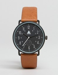 Asos Watch In Black With Tan Highlights Black