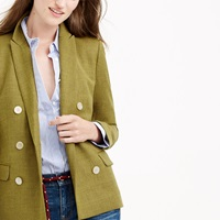 J.Crew Double Breasted Blazer In Wool Flannel