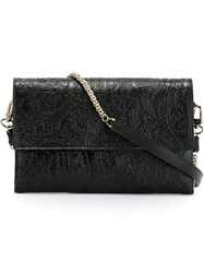 Etro Embossed Paisley Crossbody Bag Black