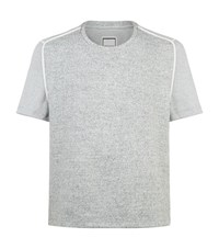 Wooyoungmi Contrast Shoulder T Shirt Male Grey