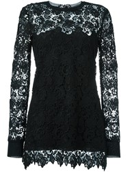 Ermanno Scervino Macrame Lace Mini Dress Black