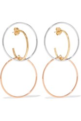 Charlotte Chesnais Galilea Gold Plated And Silver Hoop Earrings Gold Silver