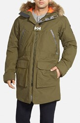 Men's Helly Hansen 'Legacy' Regular Fit Long Jacket With Faux Coyote Fur Trim