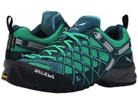 Salewa Wildfire S Gtx Cypress River Blue Women's Shoes Green
