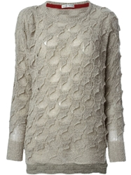 Tsumori Chisato Textured Oversized Sweater Grey