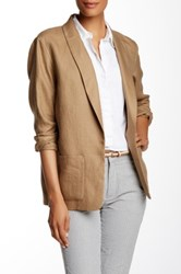 Lafayette 148 New York Ember Linen Jacket Brown