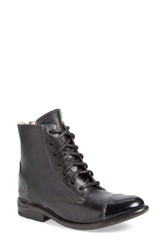 Women's Bed Stu 'Laurel' Cap Toe Boot Black Rustic Leather