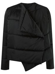Uma Raquel Davidowicz Wrap Around Padded Jacket Black