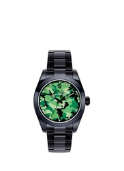 Bamford Watch Department Rolex Milgauss Camouflage Oyster Perpetual Watch Black Green