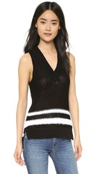 Rag And Bone Dina Halter Top Black White