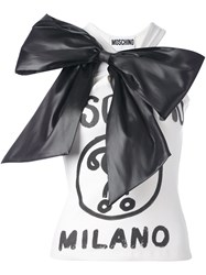 Moschino Oversized Bow Tank Top Nude And Neutrals