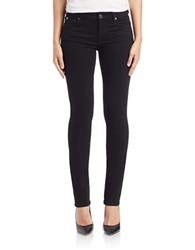 7 For All Mankind Straight Leg Jeans Slim Illusion Luxe Black