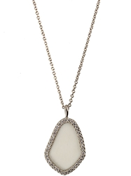 Monique Pean Woolly Mammoth Slice Necklace White