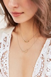 Urban Outfitters Evening Sun Layering Necklace Set Gold
