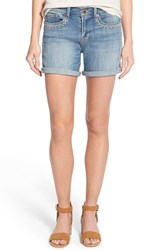 Women's Lucky Brand 'The Roll Up' Embroidered Roll Cuff Denim Shorts Riverdale