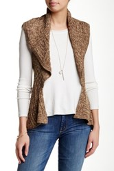 Chaudry Knit Vest Brown