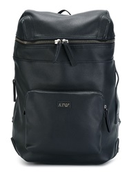 Armani Jeans Artificial Leather Backpack Blue