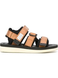 Suicoke Velcro Fastening Sandals Nude And Neutrals