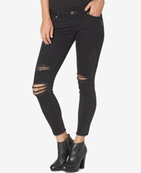Silver Jeans Co. Tuesday Ripped Ankle Skinny Black Wash